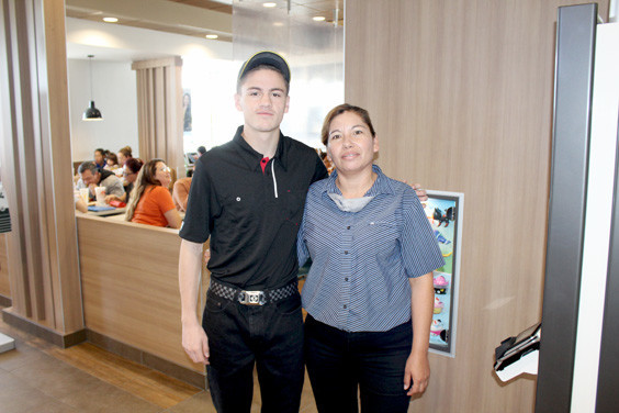 The new Fort Stockton's McDonald's is open and active. The owner's son William Story, Jr. and Store Manager Esmy Granillo invite the community to come check out the sleek new location.