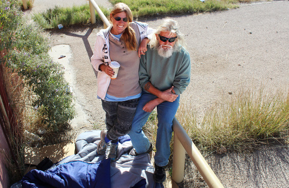 """WhereYaHeaded - Janine Williams and """"O.D."""" have been wandering the streets of Fort Stockton for three weeks now, and the duo didn't hold back from sharing a few words on being homeless."""