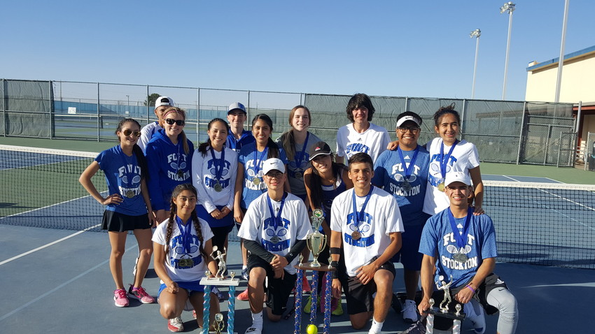 The Fort Stockton High School tennis team recently took first place at their home tournament.