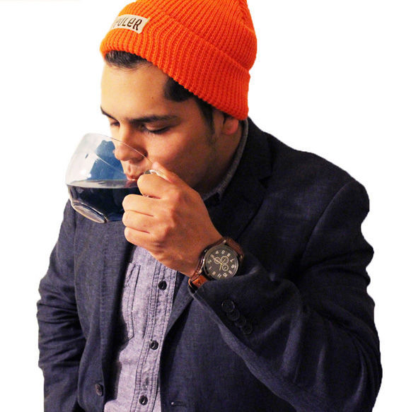 Fort Stockton Pioneer reporter Jeremy Gonzalez enjoys a hot cup of coffee in celebration!