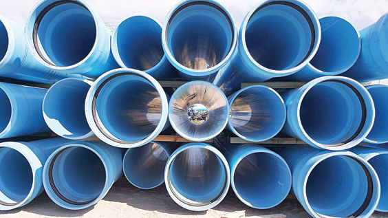 Replacement tubing for water infrastructure improvements in Belding.