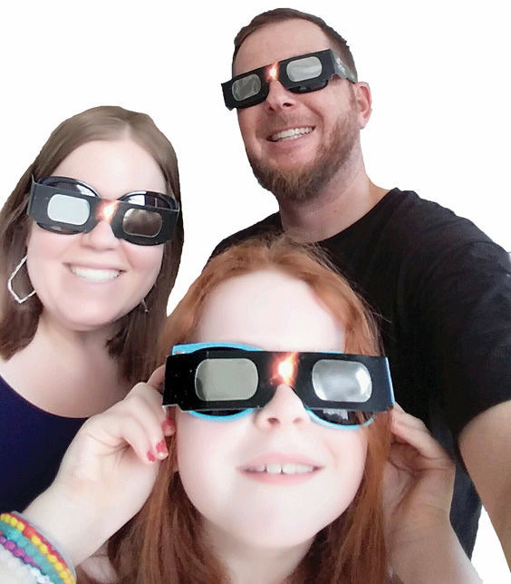 Heather, Michael and Addison Johnson witnessed the eclipse from Nashville, TN.
