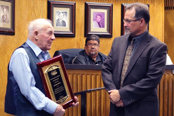 Dorman Herman and Mayor Chris Alexander.