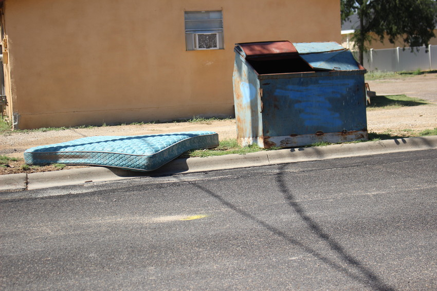 Mattresses can not be disposed of in or near a dumpster.
