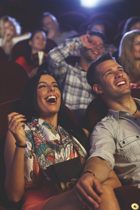 Theatre couple laughing