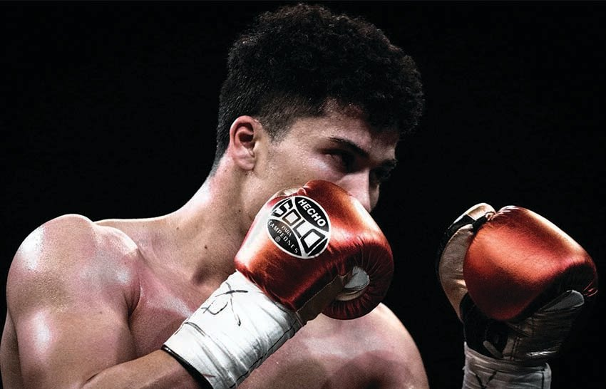 Fort Stockton native Abel Mendoza won his recent fight in Odessa at the Ector County Coliseum. The young boxer is proud to represent West Texas when he puts on the gloves.