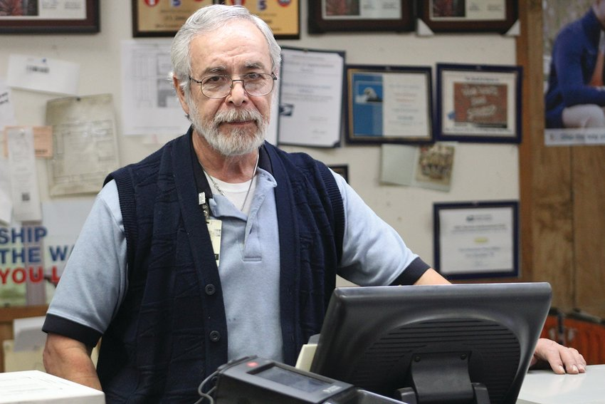 Cutline:   A familiar face at the Fort Stockton Post Office, John Quintella, has retired after 30-plus years of working for the United States Postal Service and shares his plans for his life after the post office. (Jeremy Gonzalez/The Pioneer)