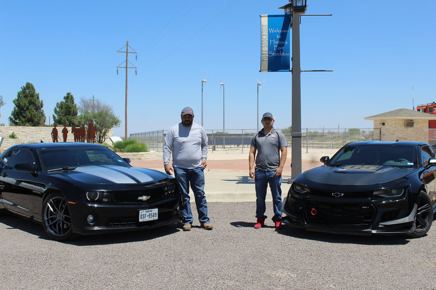 Fort Stockton racers Arian Galindo, right, and Homar Lopez, left, will be hitting the Highway 285 race course for the third time. (Aurora Sain/The Pioneer)