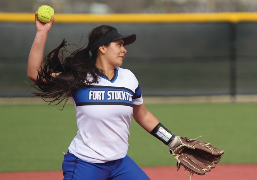 Despite helping her single-mother care for five children for the past seven year, Fort Stockton High School's Desiree Blanco took part in multiple school activities, including softball. She finished in the top 10 percent of her class academically and is heading to college in the fall.