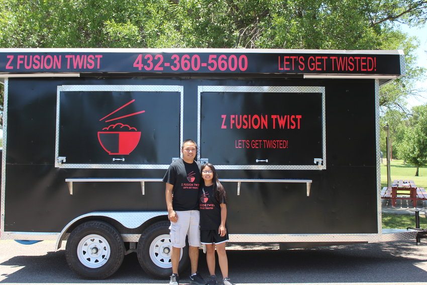 Paul Manosinh and his daughter, Zoey, as well as his wife, Q, are opening their new food truck on Saturday.