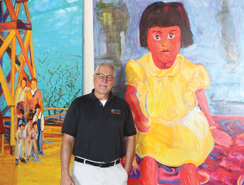 J.B. Gallegos is very involved with the community, including his new art gallery featuring artist Carolina G. Flores.