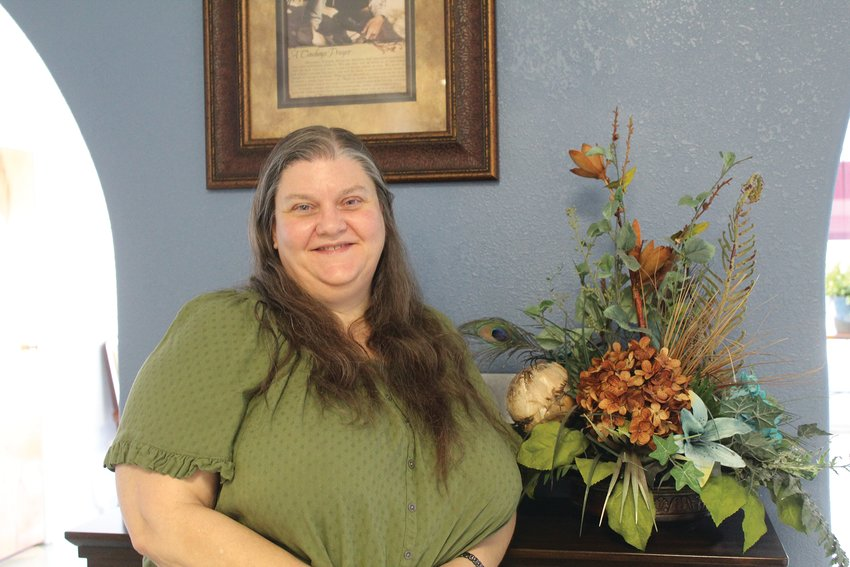 Susann Hall loves being involved in the community theatre.
