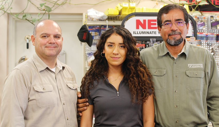 Gonzalo Acosta, Natalia Martinez and Agustin Martinez run the Fort Stockton Welding Supply business.