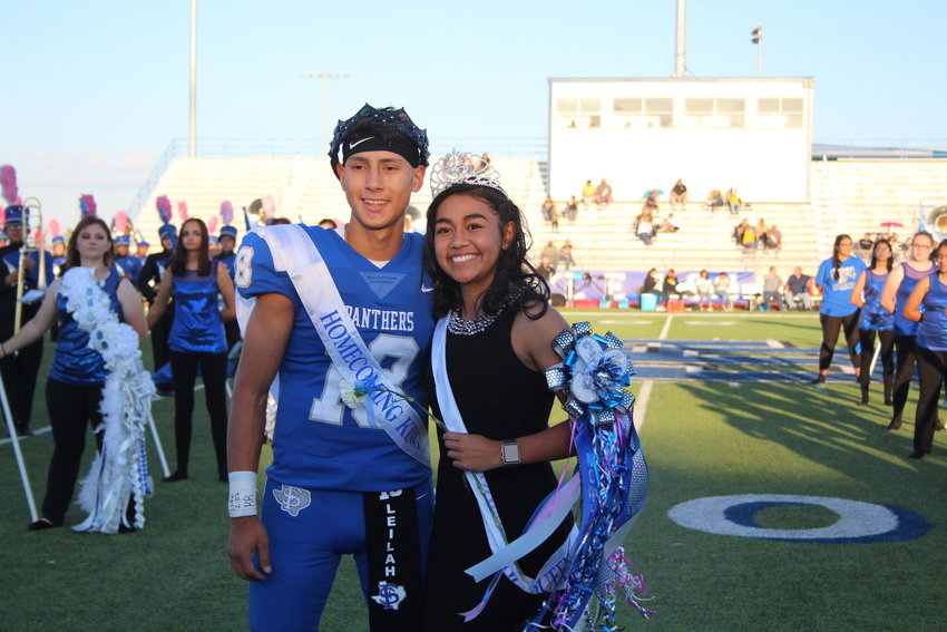 Derek Hernandez and Rebecca Rodriguez were crowned Fort Stockton High School's King and Queen prior to the school's Oct. 4 homecoming football game against Snyder. (Patty Fountain/For The Pioneer)