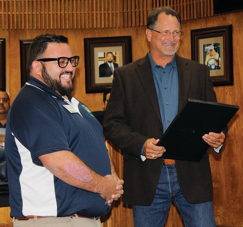 Andres Madrid was given an honorary citizen award.