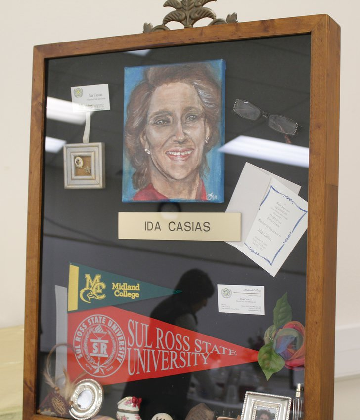 Her shadow box will be displayed for future generations.