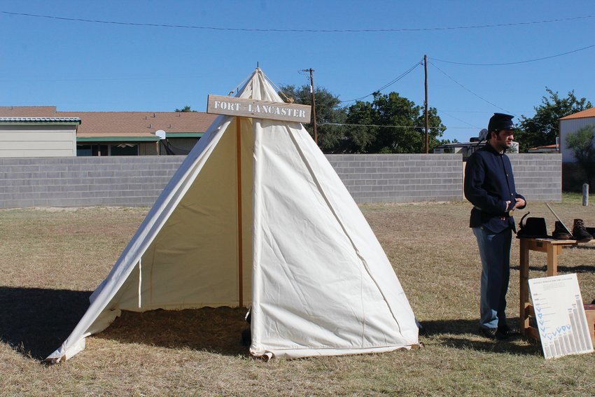 A representative from Fort Lancaster was present for the Living History Day in Fort Stockton last week.