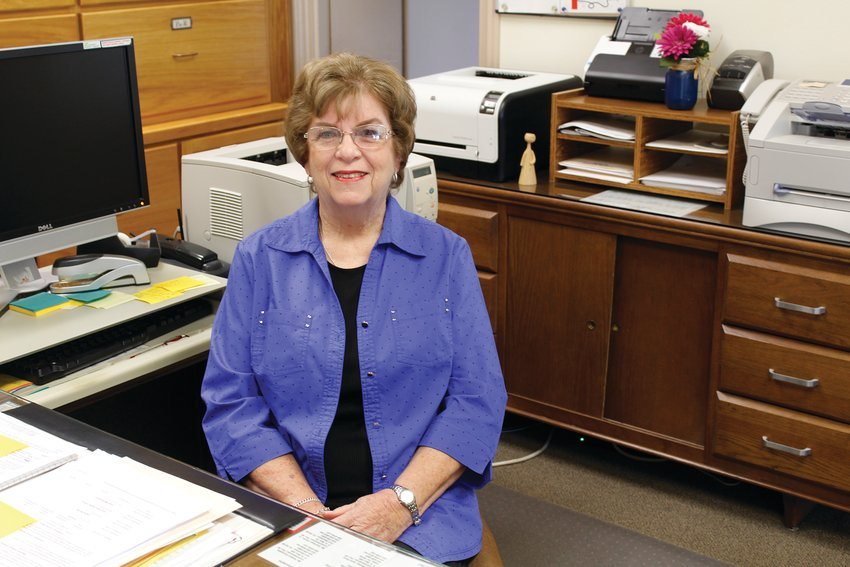 Pam Harris has worked for Pecos County for the last 48 years.