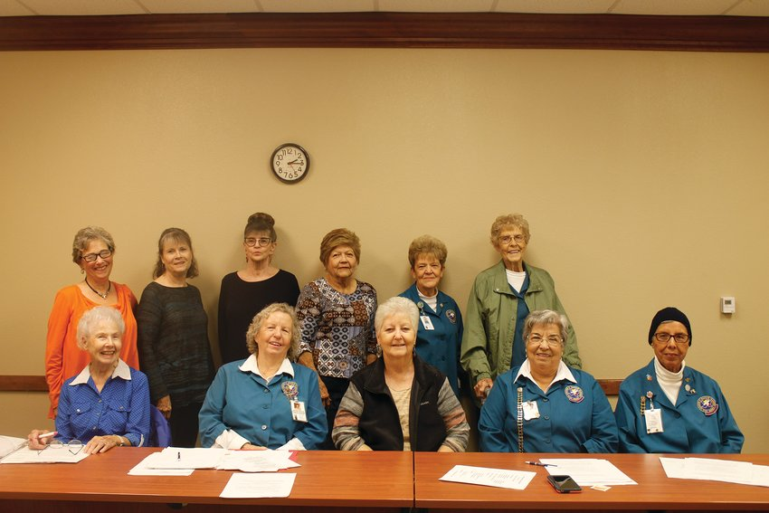 The Pecos County Memorial Hospital Auxiliary is looking for new members to join the group. Carol Adams, Ludene Reeves, Gerda Martinez, Juanita Castro, Linda Lamb, Leona Tucker, Charlene Whitfield, Dotty Huelster. Phyllis Renz, Dora Rascon and Cristina Flores.