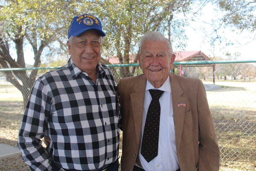 Tony Urias and Delmon Hodges hung out at the event. Urias is an Air Force veteran who served from 1963 to 1967 and Hodges is a US Navy veteran from World War II.
