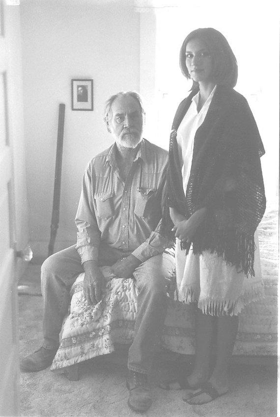 Re-enactors Frank Carpenter and Melanie Hinojos portray James B. McAllen and Santos Tijerina in the documentary, Border Bandits.