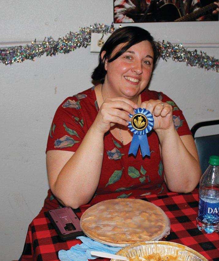 Jamie Horton won most tips for her Caramel Pear Pie.
