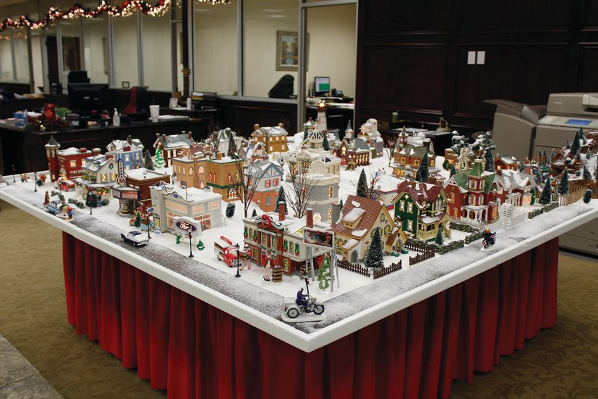 The Christmas Village is a big hit at Pecos county State Bank.