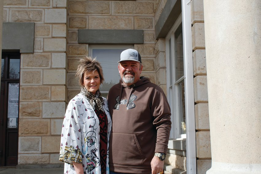 Darla and Warren Cude have volunteered with the Pecos County Livestock Association for 20 years.
