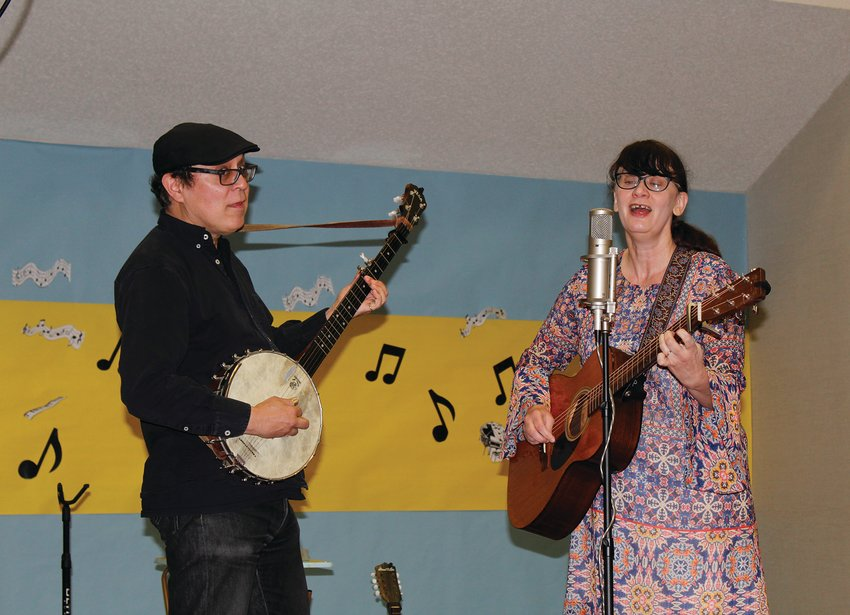 Hungrytown performed their free concert at the Fort Stockton Public Library on Jan. 23. The group is composed of Rebecca Hall and Ken Anderson.