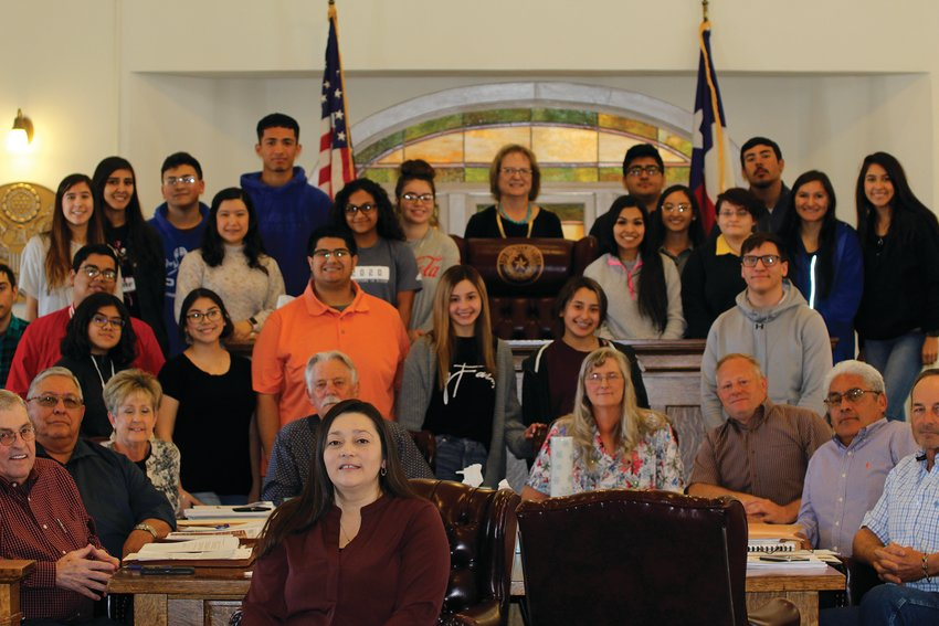 Janet Groth's government class from Midland College's WRTTC campus visited the Pecos County Commissioners Court during it.
