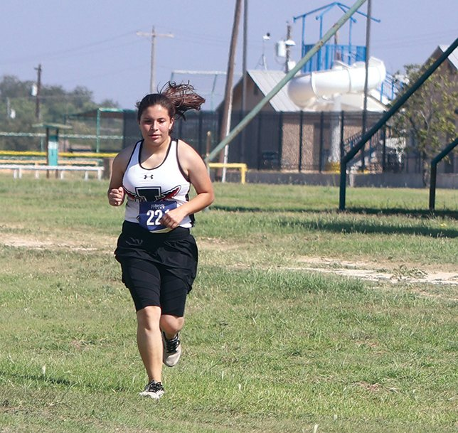 Iraan's Abby Lopez competes at the Sonora Bronco Invite on Oct. 5. Lopez finished in 55th place in a time of 19 minutes 46 seconds.