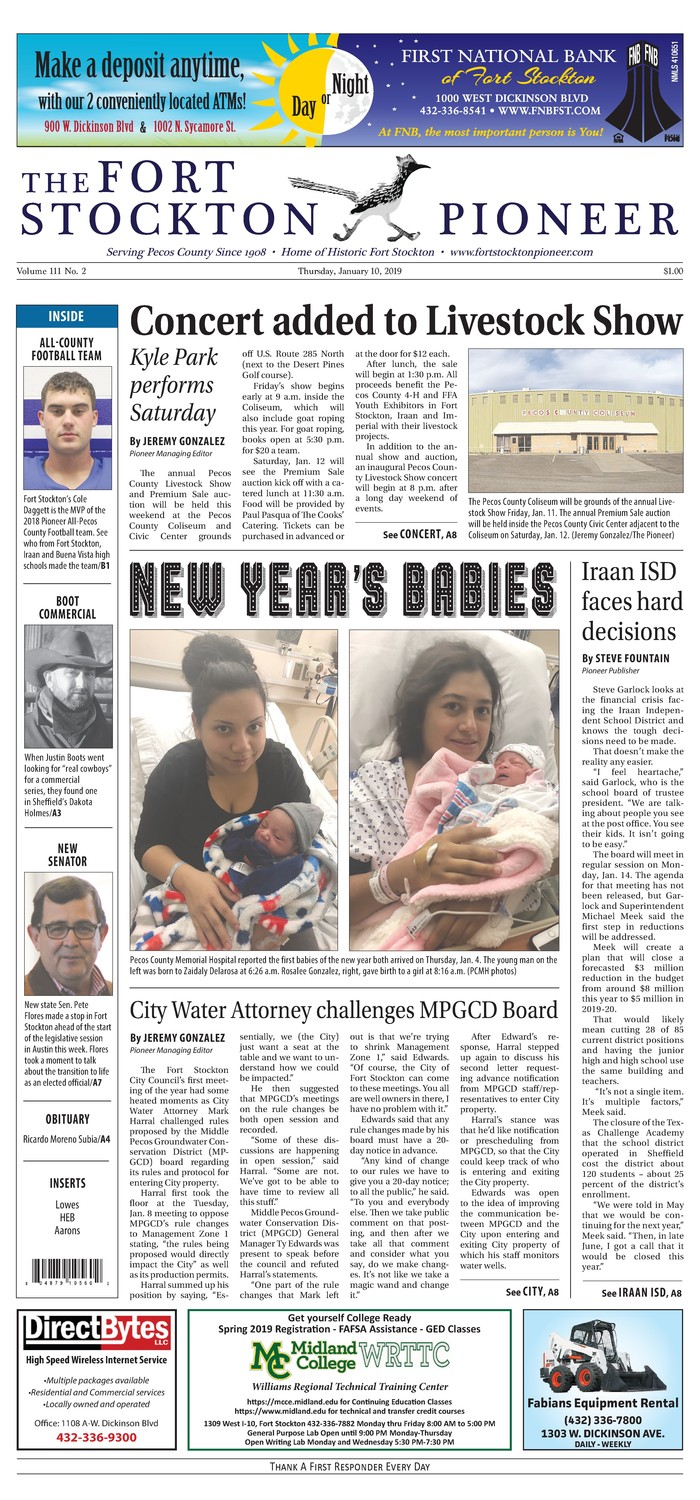 how to adress a letter thursday january 10 2019 the fort stockton pioneer 22247