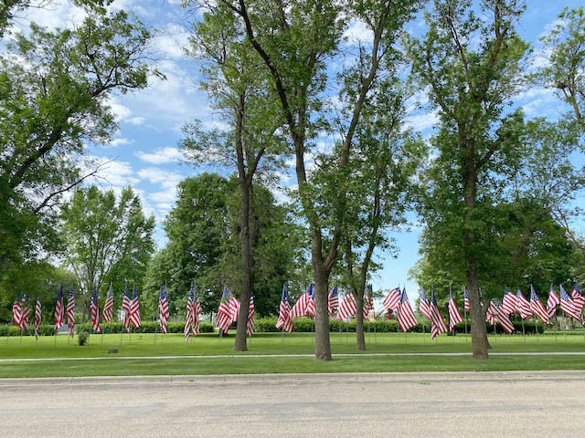 Honoring our flag  In honor of Flag Day on Sunday, June 14, volunteers in Lake Preston raised the flags at both the Lake Preston Cemetery and Thorsness Park. Despite wind gusts around 25 mph, flags were also displayed to honor the day at Washington Park in De Smet.