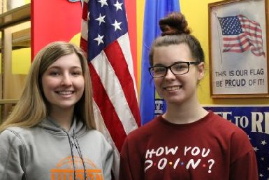 Though Girls State 2020 was cancelled, the local American Legion Auxiliary of the Iroquois Bensley-Rounds Post #280 selected Kaitlyn Maas and Sierra Kogel as our local delegates. This opportunity is open to both boys and girls who are juniors in high school.