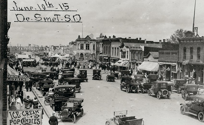 This historical photo from the Ed Monson collection shows an early June 10 celebration in De Smet.