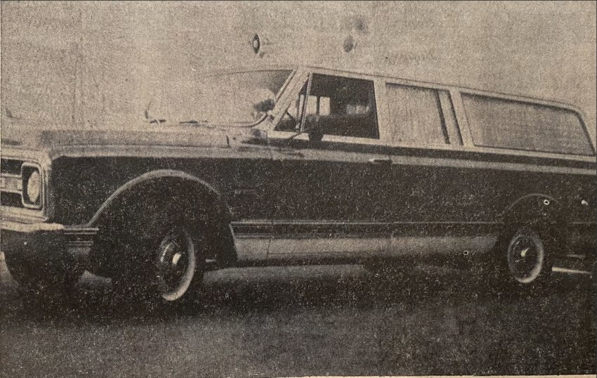 FIFTY YEARS AGO:The newest addition to the town has arrived! A new and modern ambulance will be put to use now that it has come to town just in time for Homecoming.