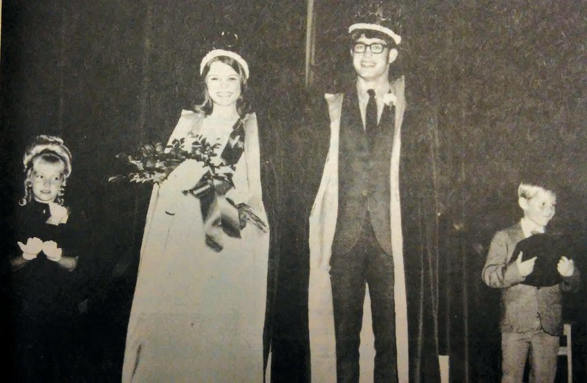 FIFTY YEARS AGO: De Smet Royalty were Linda Ogren and Pat Rodney, Lynette Paulson and George Cavanaugh.