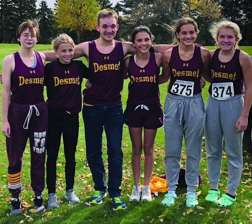 De Smet athletes making it to state are Carly Wiese, left, Aubree Blue, Andrew Close, Megan Dylla, Mirra Beck and Alyssa Asleson.