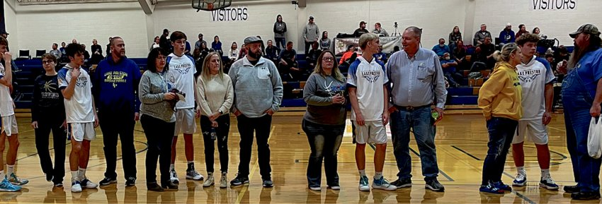 Parents' night was held at the first home game on Friday night.