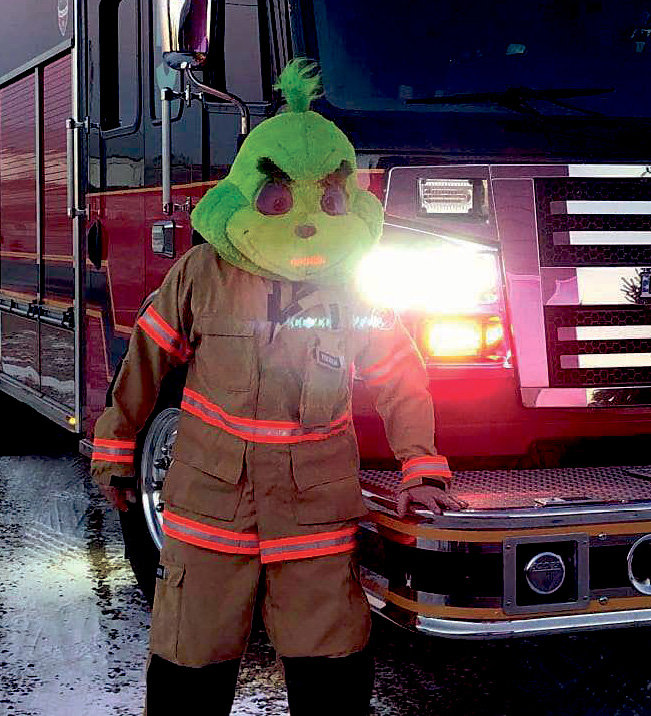 The Grinch is ready to go deliver some goodies.
