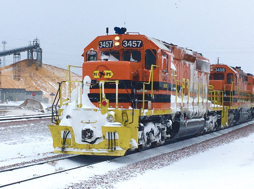 Ron Nelson got a shot of this train as it was picking up grain cars in Lake Preston on Friday.