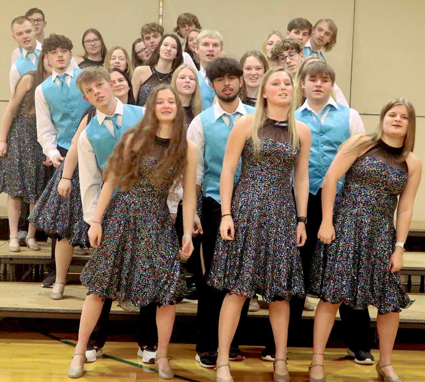 The Lake Preston Show Choir performed at the Afternoon of Arts in Lake Preston last Wednesday. Other performances included their band and De Smet show choir and band as well.