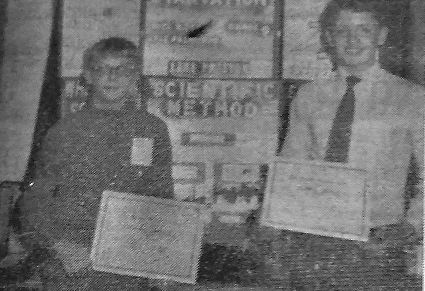 FIFTY YEARS AGO: Three two-student groups of young LPHS scientists returned from the regional science fair at SDSU. The US Army Award was won by Mike Koch and Lyle Palmlund.