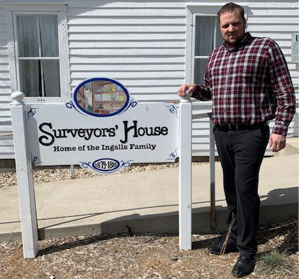 Ben Haney, new director at the Laura Ingalls Wilder Memorial Society, aims to make a stop at the historical site a priority for tourists.