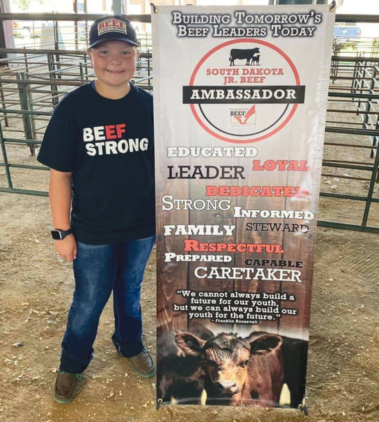 Bentlee Holt promotes the beef industry by signing up as a South Dakota Jr. Beef Ambassador.