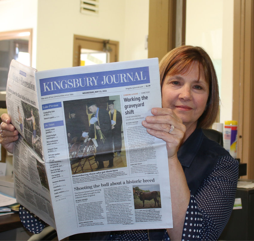 Penny Warne volunteers seven to fifteen hours a week as the Kingsbury Journal's Copy Editor. She has volunteered since the newspaper first started May 20, 2020. Warne is a retired schoolteacher, and that makes the job a great fit for her and the Journal.
