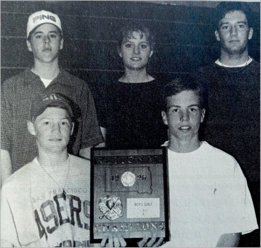 TWENTY-FIVE YEARS AGO: De Smet golfers who qualified for the state tournament are Matt Kees, rear left, Kim Burgers, Derek Helms; Mark Burgers, front left, and Jared Baszler.