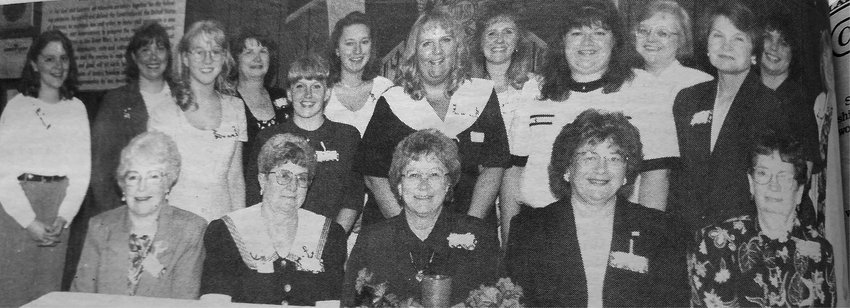 TWENTY-FIVE YEARS AGO: The LP American Legion Auxiliary hosted a 50th anniversary Girls State Tea for past participants and auxiliary members on Saturday. Attending were Vikki Hasche, Krislyn Carlson, Jessica Kroupenske, Michelle Odegaard, Marily Waite, Diane Martinmaas, Renae Olson, Gail Swenson, Tami Anderson, Caryn Claussen, Marsha Ellingson, Jacky Leonhardt, Joanne Nelson, Lavonne Bjordahl, Bev Gullickson, Phyllis Nelson, Shirley Peterson and Grace Waldow.