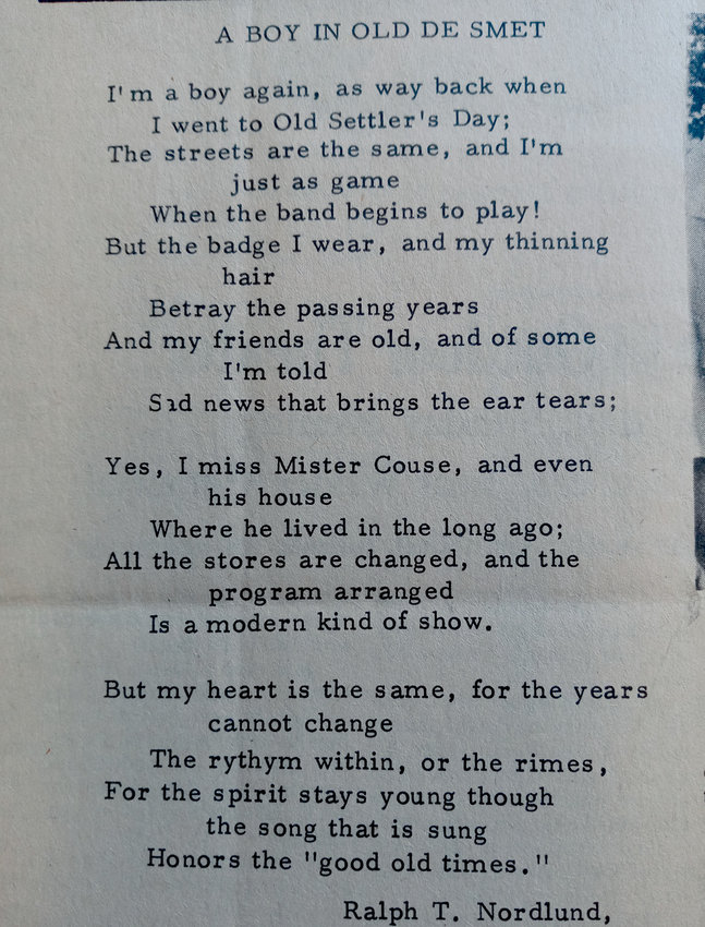An old poem written by Ralph T. Nordlund of Pastoria, Ohio.