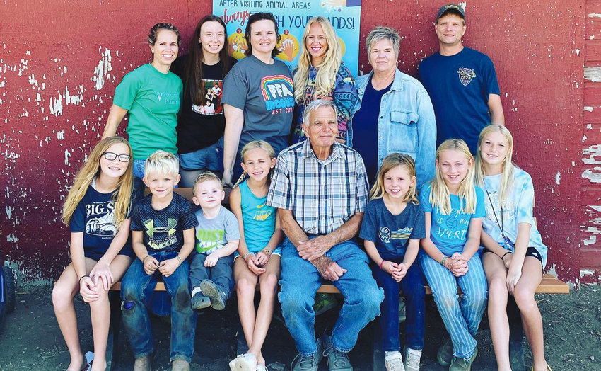 The Clendening family at the South Dakota State Fair.
